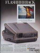 PUBLICITÉ 1987 POLAROID IMAGE SYSTEM FLASHHHBACK - ADVERTISING