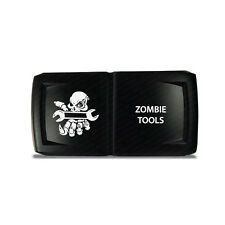 CH4x4 Rocker Switch V2  Zombie Tools Symbol 5 - Horizontal - Green  LED