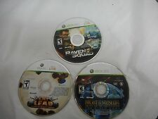 Xbox 360 Lot of 3 Games Disc Only Eat Lead,Raven Squad,Night at the Museum