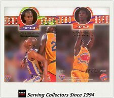 1995 Futera NBL Trading Cards SAMPLE Head To Head Diecut H2H4: Jones/Trimmingham