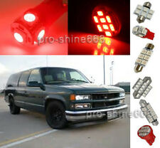 12X  Red LED lights interior package kit for 1995-1999 Chevy/GMC Suburban