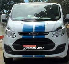 PRE CUT FORD TRANSIT CUSTOM BONNET STRIPES DECALS STICKERS GRAPHICS