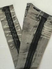 NWT Rock & Republic Distressed Tire Tracks Grey Lowrise Skinny Jeans Jr Tween 24