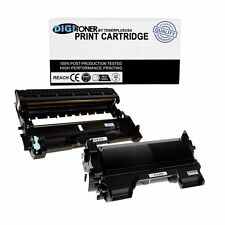 DigiToner 2pk Compatible TN450 Toner & DR420 Drum for Brother TN420 HL-2270DW