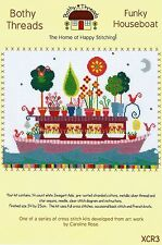 BOTHY THREADS FUNKY HOUSEBOAT COVERED IN FLOWERS COUNTED CROSS STITCH KIT