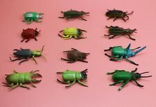 Lot 12pcs plastic Animal Small figure Toy Insect Bug Beetle ladybug A18