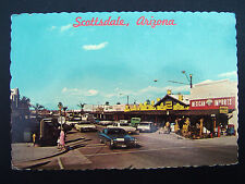 Scottsdale Brown Avenue Mexican Imports & Basket House Continenta Postcard c1970