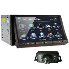 "Double Din 7"" Car DVD Player In dash Non GPS Deck Radio IPod TV Bluetooth+Camera"