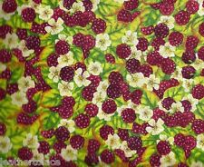Wilmington Prints ~ Berry Patch Wild Raspberries  100% Cotton Quilt Fabric BTY