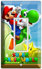 SUPER MARIO BROTHERS YOSHI STAR SINGLE DECORA LIGHT SWITCH WALL PLATE ROOM ART