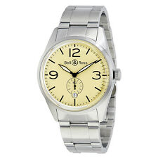 Bell and Ross Original Automatic Beige Dial Mens Watch BR123-BEI-ST-SS