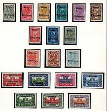 AUSTRIA 1919-1921 COLLECTION OF 189 MINT & USED ON LINDNER PAGES INCLUDES IMPERF