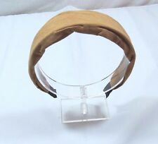 Faux Tan suede turban look womens headband 1 1/4 inches wide