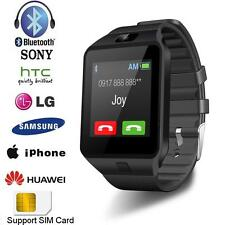 Black DZ09 Bluetooth Smart Watch Phone Mate GSM SIM For Android iPhone Samsung