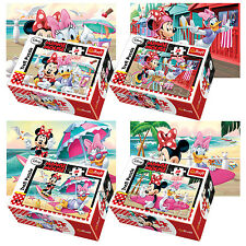 Trefl Mini 4 x 54 Pieces Kids Girls Minnie Mouse & Daisy At Beach Jigsaw Puzzle