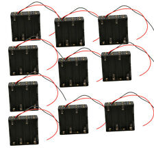 "10pcs 8X AA LR06 12V Cell Battery Clip Holder Storage Box Case w/6""Leads Wire CE"