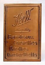 1930's H&W BANDEAUX CORSETTES GIRDLES GARTER BELTS counter top  Sign +