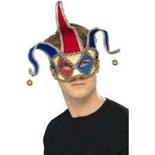 Mens Women's Venetian Musical Jester Mask Fancy Dress Masquerade Halloween Fun