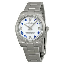 Rolex Oyster Perpetual White Dial Stainless Steel Ladies Watch 177200WBLRO