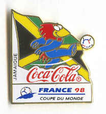 1998 WORLD CUP COCA COLA JAMAICA FLAG PIN CARRIED BY MASCOT FOOTIX NEW IN BAGS