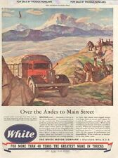 1944 White Truck - Andes Bolivian- Classic Car 10x13 Advertisement Print Ad LG23