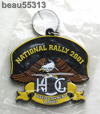 HARLEY DAVIDSON OWNERS GROUP HOG 2001 NATIONAL RALLY KEY CHAIN FOB