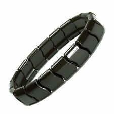 Power Ionic Health Ion Tourmaline Beads Stretch Bracelet Wristband Black Unisex