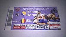 TICKET : BOSNIE  - BELGIQUE 13-10-2014 EURO 2016