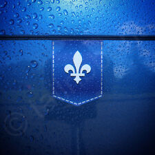 "Fleur de lis sticker - 1 3/8"" x 1 3/4"" - car decal French emblem France badge"