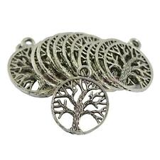 Wholesale 30pcs Tibet Silver Tree of Life Charms Pendant Jewelry Findings