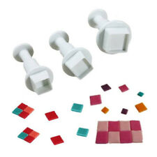 New 3Pcs Square Shape Mold Cutter Fondant Cake Decor Cookie Sugar Craft DIY Tool