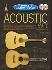 Complete Learn To Play Acoustic Guitar Manual Book/CD's - Same Day P+P