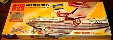 VINTAGE [1955] AURORA BOEING B-29 SUPERFORTRESS 1/76 w/ REPRODUCTION DECALS