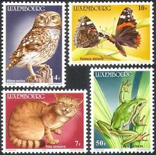 Luxembourg 1985 Owl/Frog/Butterfly/Wild Cat/Birds/Insects/Nature 4v set (n31619)