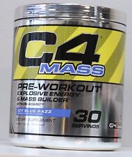 NEW Cellucor C4 Mass Explosive Energy Mass Builder 30 Servings Icy Blue Razz