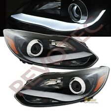 2012-2014 Ford Focus Sedan Hatchback LED Bar Strip Projector Headlights Black