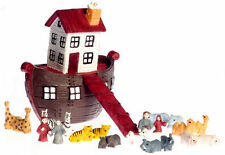 Noah's Ark & Animals Dolls House Victorian Nursery Toy, Accessory, 1.12th Scale