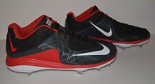 Nike Air MVP Pro Metal 2 Baseball Cleat - Men's Size 12 - Black Red White