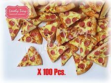 100 pieces of Dollhouse miniature Pizza Sliced 1.5 cm.x1 cm.(1/2 inch) Free ship