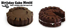 Happy Birthday Cake Round Mold Pan Chocolate Baking Tray Silicone Mould