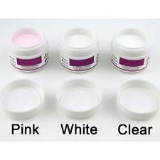 Hot 3 X ACRYLIC POWDER For NAILS ARTS False Tips Tools Set - WHITE CLEAR PINK G5
