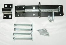 Brenton padbolt garden gate padlock bolt latch lock Black electro galvanized 6