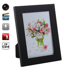 Home Black Photo Frame Spy Security Camera Hidden Motion Detection Camcorder Pic