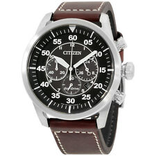 Citizen CA421024E Avion Mens Watch - Black Dial Stainless Steel Case Quartz