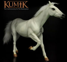 1/6 Scale KUMIK AC-6 White Stallion Horse Farm Life Figurine Toys Model Doll