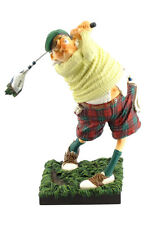 """Guillermo Forchino Comic The Golf player 15"""" Tall Art Figurine Sculpture Statue"""