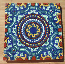 "12~Talavera Mexican tile pottery hand painted 6"" hand made in Dolores Hidalgo"
