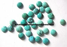 AAA Quality 25 Piece Natural Turquoise 3X3 MM Round Loose Cabochon Gemstone