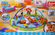 Baby Gym Playmat Soft Toy & Activity Kid Development Music Light Tummy Time Bed