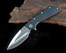 black g10 handle bearing flipper d2 blade tactical folding knife with tools gift